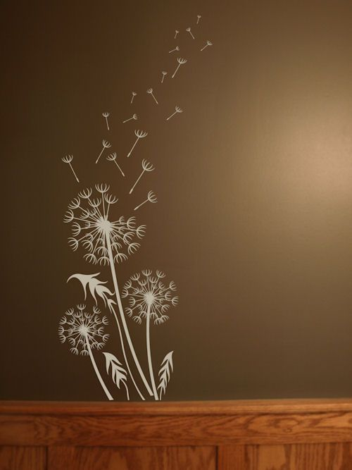 dandelion breeze artistic wall decal - Wall Art Design Decals