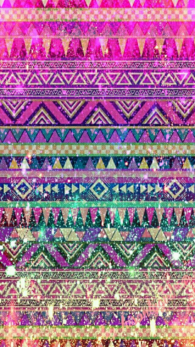 Tribal galaxy glitter wallpaper I created for the app CocoPPa.
