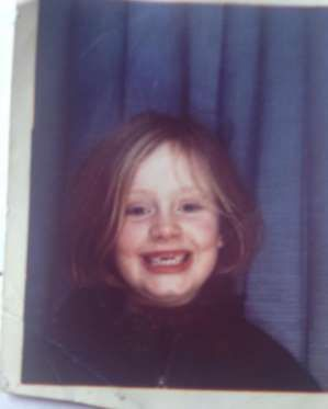 This is just too cute! Adele shared a childhood snap of herself on Instagram on Oct. 29, 2015, compl... - @adele/Instagram