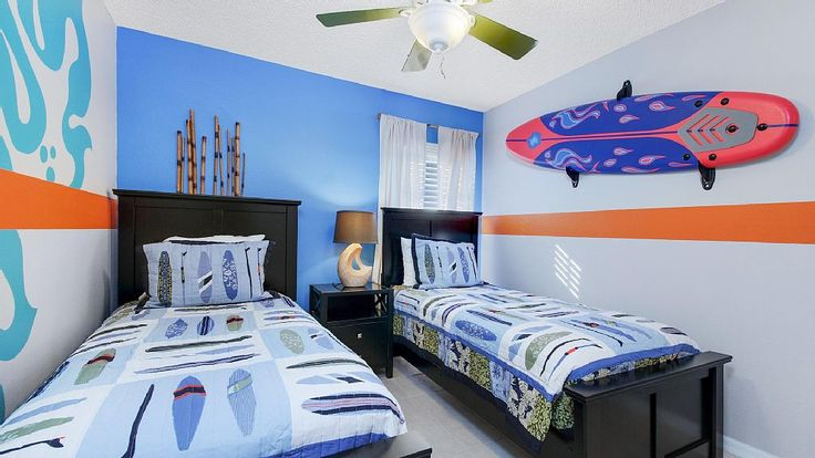 Welcome To «THE INSPIRATION VILLA»  WONDERFUL Vacation Rental Home Orlando Florida 5 minutes to Disney World & 15 minutes to Universal Studios. (Kids Surf Bedroom) VRBO: https://www.vrbo.com/786927 Our Professional Website: THE LUXURY VILLAS ORLANDO http://www.theluxuryvillasorlando.com/Page_2.html #vacation #rental #travel #vrbo #walt #disney #world #orlando #florida #universal #universalstudios #florida #planning #tips #harry #potter #mickey #mouse #walt #minnie #king #kong #surf #skate…