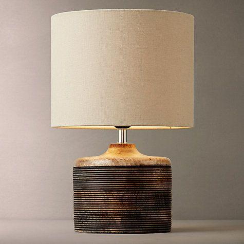 Buy John Lewis Ira Ribbed Wooden Table Lamp line at johnlewis