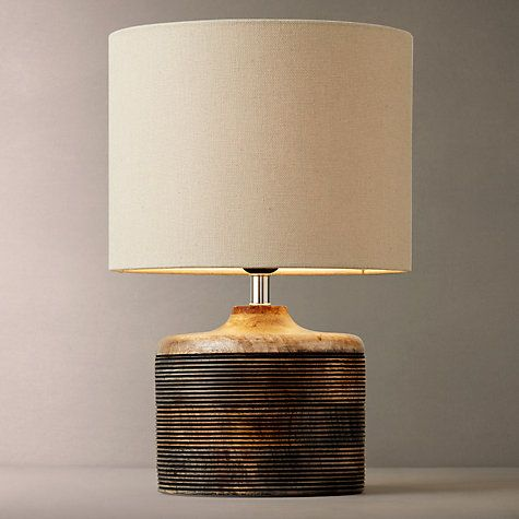 Buy John Lewis Ira Ribbed Wooden Table Lamp Online at johnlewis.com