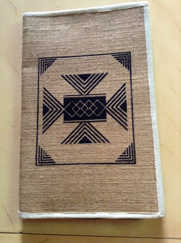 JUTE FILES WITH PRINTED DESIGN FRONT VIEW FOR SEMINARS