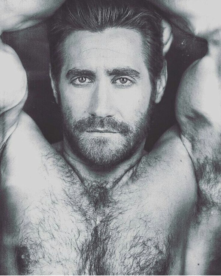 Jake Gyllenhaal. I love his clean shaven look, but I have to say that I really love this look too.
