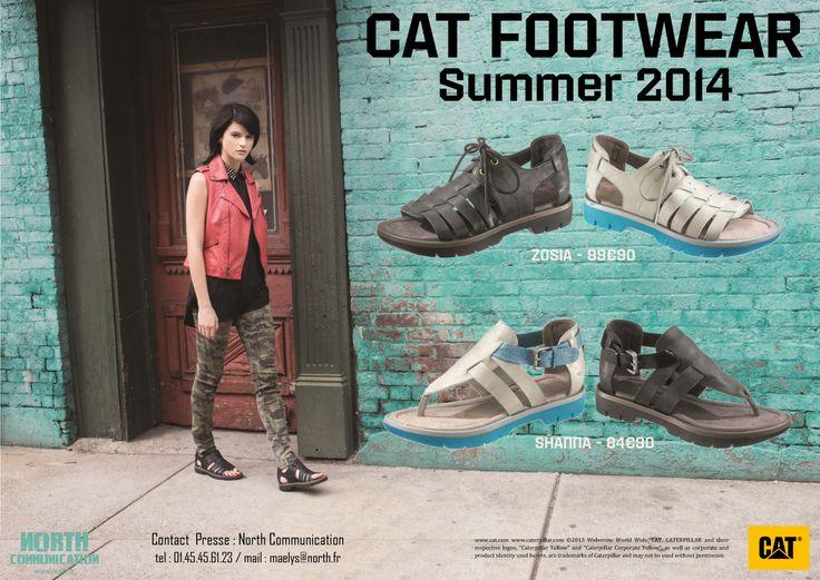 #catfootwear #SS14 #sandals #shoes #CAT #Breaknewground #city #earthmovers #Caterpillar #fashion