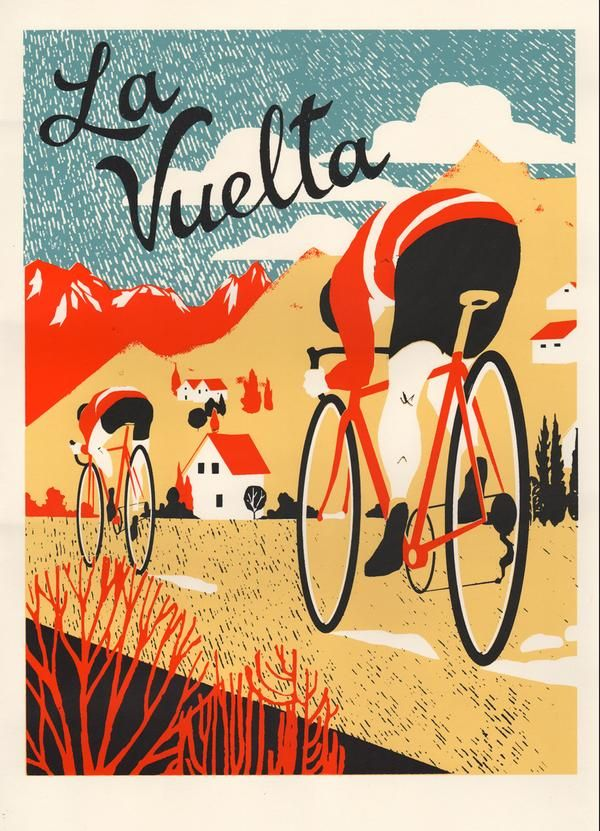 cadenced: La Vuelta by Eliza Southwood MAKETRAX.net - Bicycle POISTERS