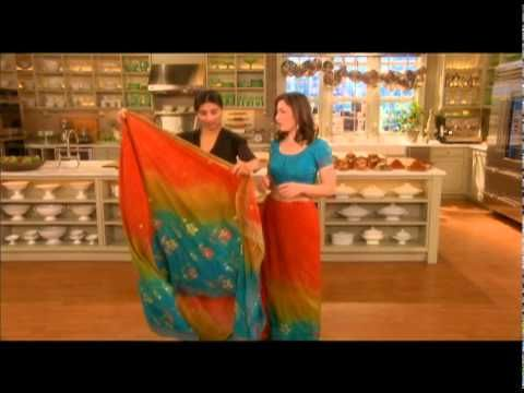 Martha Stewart Living style director Ayesha Patel demonstrates how to properly tie a traditional Indian sari.