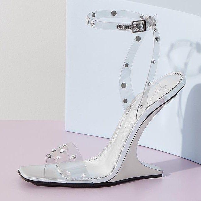 451190f5728 Giuseppe Zanotti  Garconne  Crystal-Embellished PVC Sandals ...
