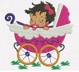 Creative Embroidery: Mother to child embroidery - baby stroller