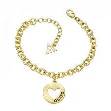 Guess G Girl Gold Plate Bracelet UBB51435