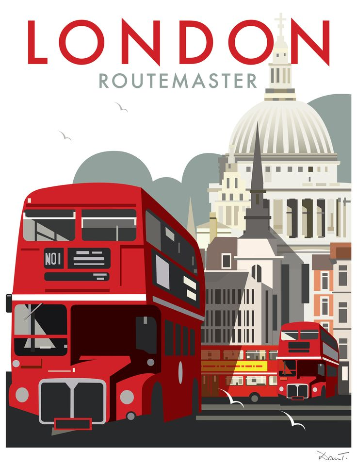 London Routemaster (DT26) Town and City Print by Dave Thompson http://www.thewhistlefish.com/product/dt26f-london-framed-art-print-by-dave-thompson #london #redbus