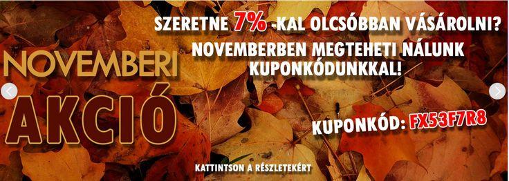Ne maradjon le Novemberi akciónkról!  http://www.tintashop.hu/