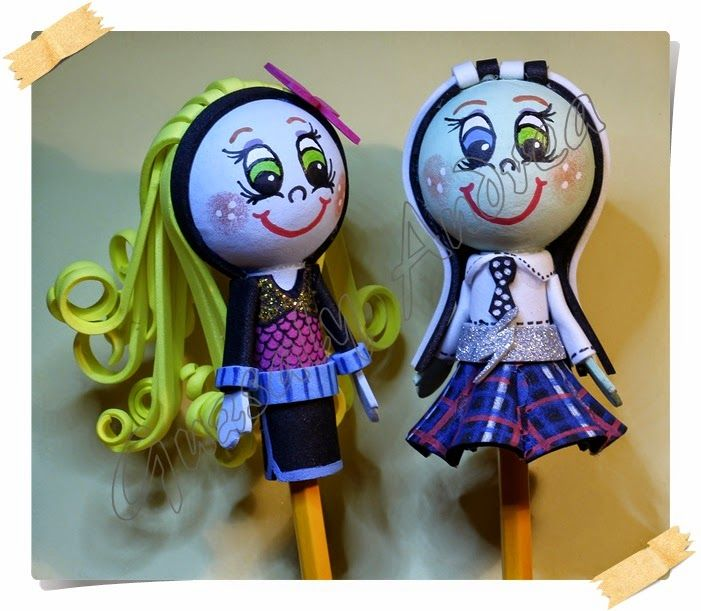 Lagoona Blue & Frankie Stein / Dekorgumi baba / Craft foam doll / Moosgummi-Puppe