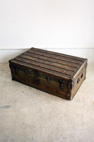 アンティークトランクディスプレイ収納ヴィンテージUSA インテリア 雑貨 家具 Antique trunk ¥89000yen 〆05月01日