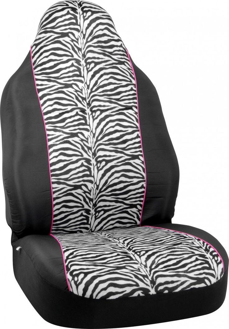 Zebra Print Car Auto Seat Cover