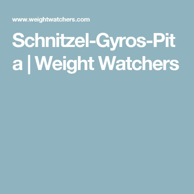 Schnitzel-Gyros-Pita | Weight Watchers