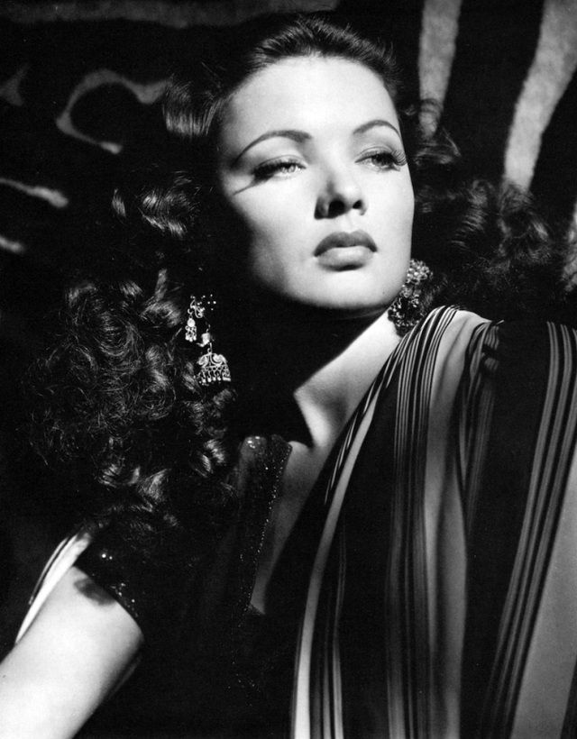 Gene Tierney in a publicity photo for Sundown, 1941.