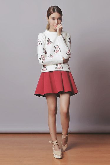Tricia Gosingtian - Choies Skirt, Choies Sweater, Romwe Shoes - 022214