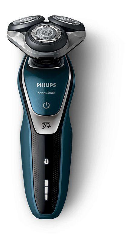 Philips Shaver Nat en Droog (S5672/26)  Glad en snel scheren met de Series 5000 elektrische scheerapparaat  Beschermt 10x beter dan een standaard scheermes  MultiPrecision-messysteem  Flex-scheerhoofden 5 draairichtingen  SmartClick-precisietrimmer  SmartClean-systeem  Scheerhoofden met afgerond profiel voor huidbescherming Scheer glad zonder wondjes en sneetjes. Ons MultiPrecision-systeem met afgeronde scheerhoofden glijdt soepel over uw huid terwijl deze wordt beschermd.  EUR 149.95  Meer…