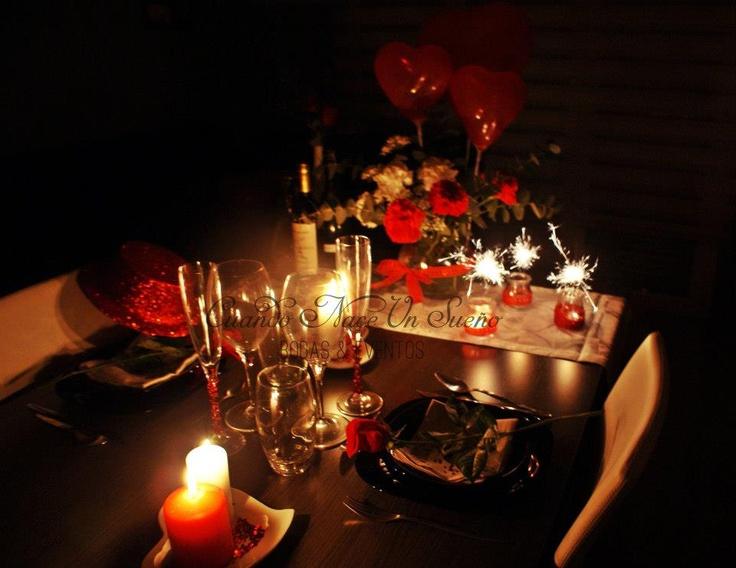 Cena de san valentin san valentine romantic eventos for Decoracion boda romantica