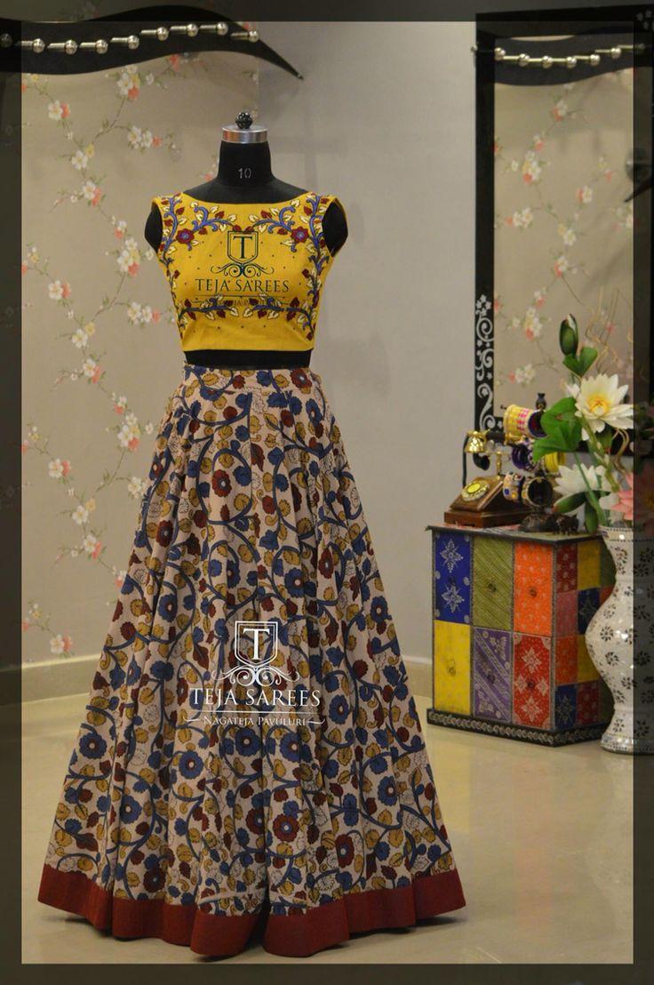 Fashion combination with kalamkari