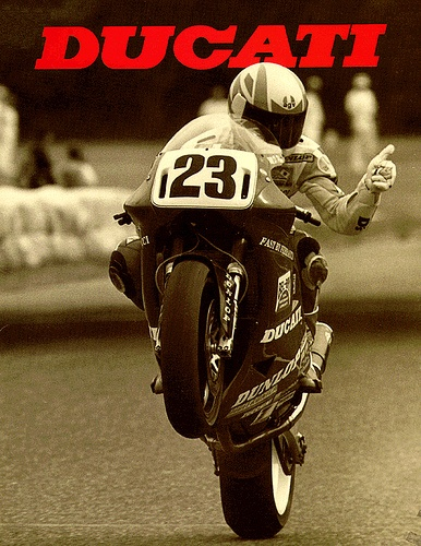 Ducati + my favorite number.. This must be a sign that I should get one. #MarneezysStyle