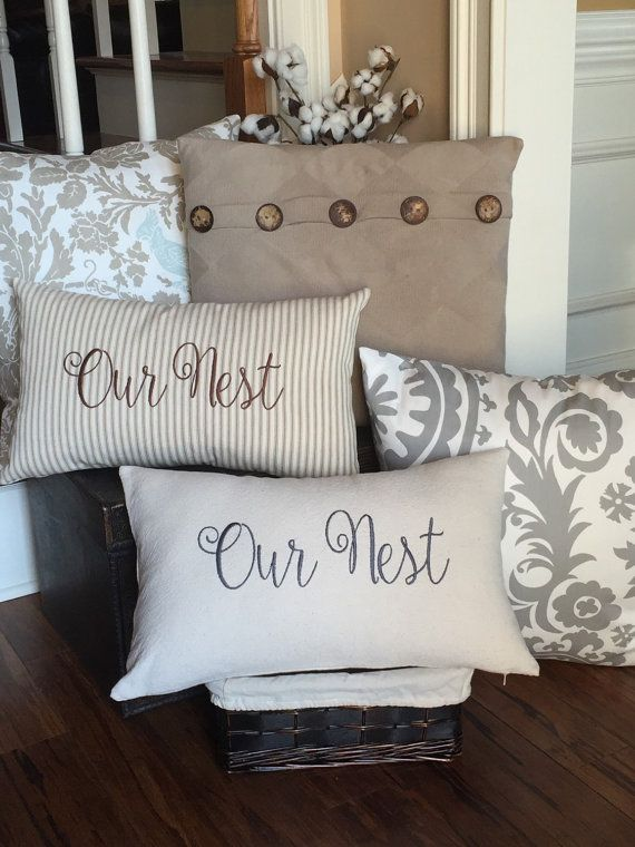 Hey, I found this really awesome Etsy listing at https://www.etsy.com/listing/265067575/ticking-pillow-cotton-canvas-pillow-our