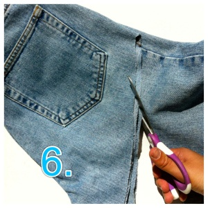 how to make denim shorts from old jeans
