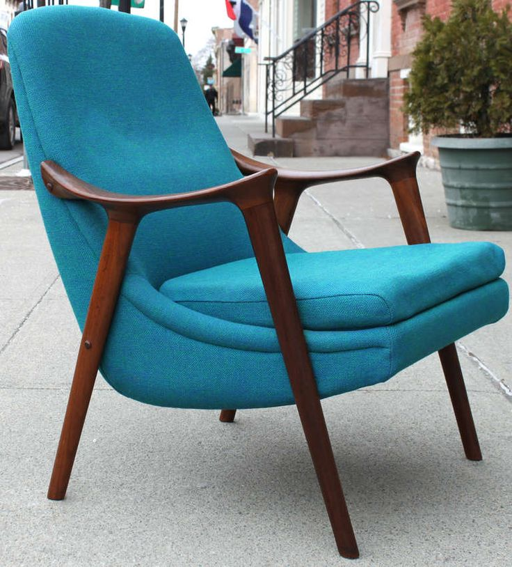 Danish Walnut Scoop Armchair