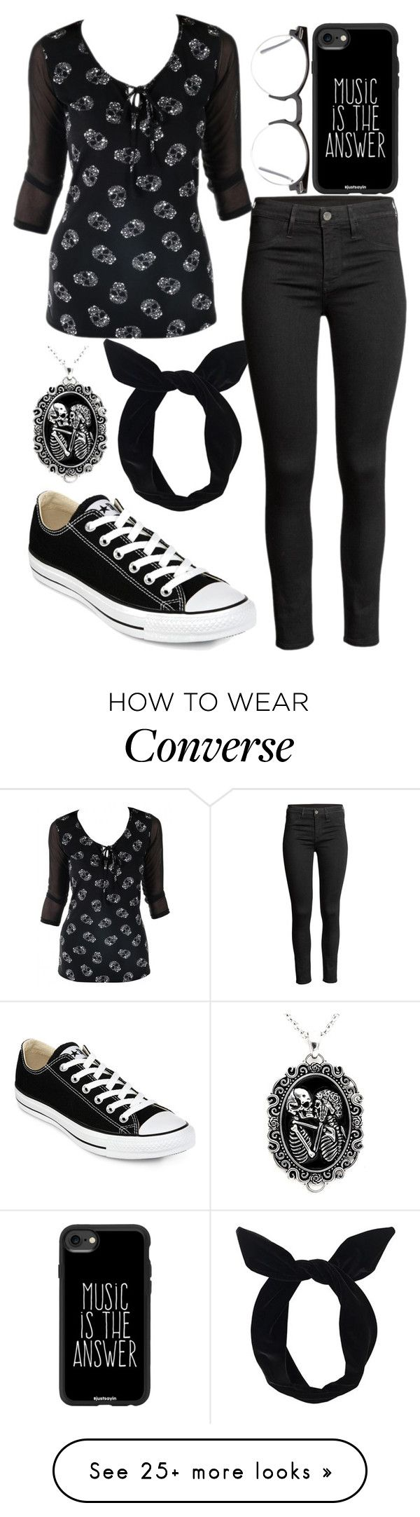 """Dawn my Revolution"" by berryco on Polyvore featuring Lulu in the Sky, Converse, Spitfire, Casetify and allblackoutfit"