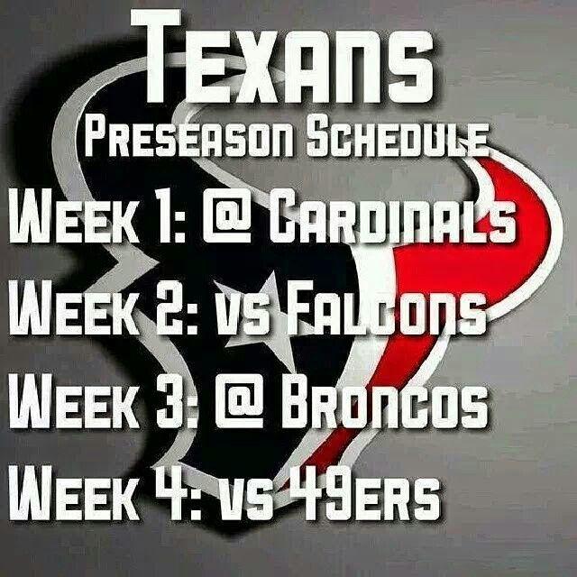 2014 preseason schedule