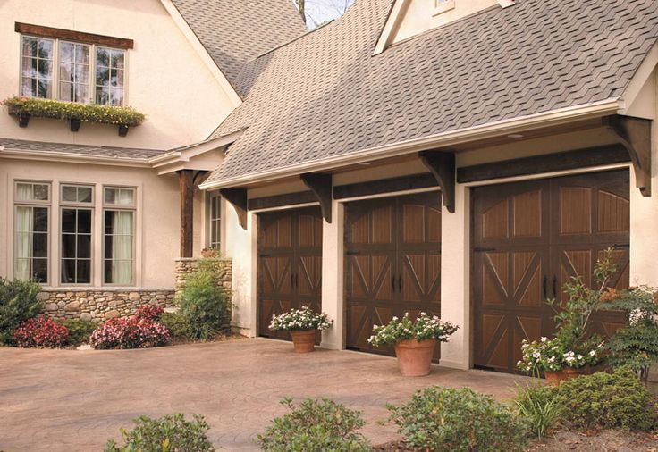 Garage door idea for the two single garage doors. I would like to have a matching front door and shutters :)