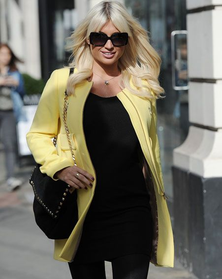 Billie Faiers stepped out ready for Spring in this yellow coat [Flynet]
