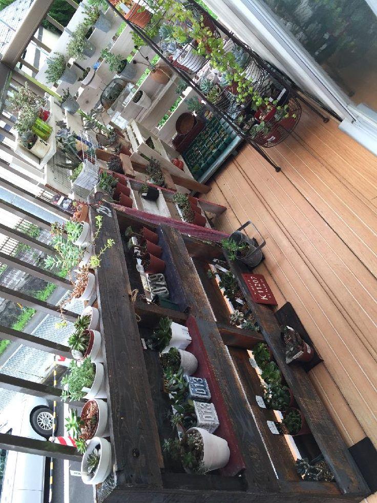 バルコニー/ベランダの画像 by ゆきへえさん | バルコニー/ベランダとわが家の多肉スペースと多肉棚DIY