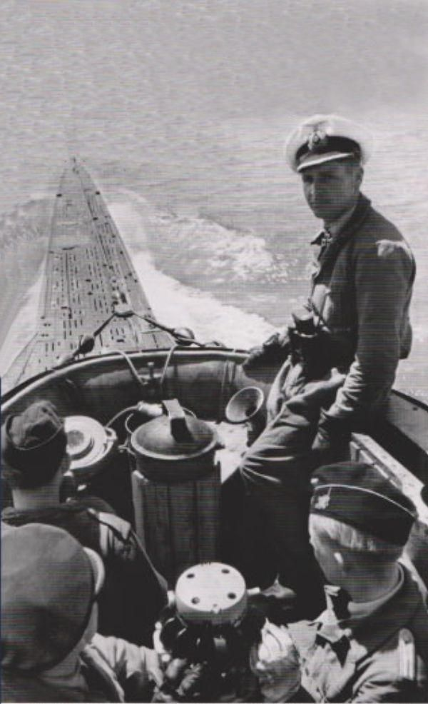 U boat in the South Atlantic, 1941: before the introduction of Very Long Range (VLR) aircraft they could operate with impunity on the surface, submerging only to approach their victims - if they could find them.