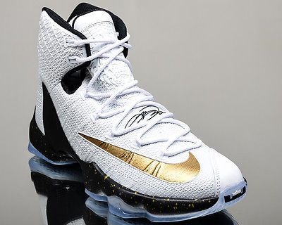 Nike Lebron XIII Elite 13 men basketball shoes NEW white gold black - http:/