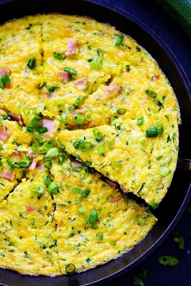 Ham and Cheddar Zucchini Frittata | The Recipe Critic