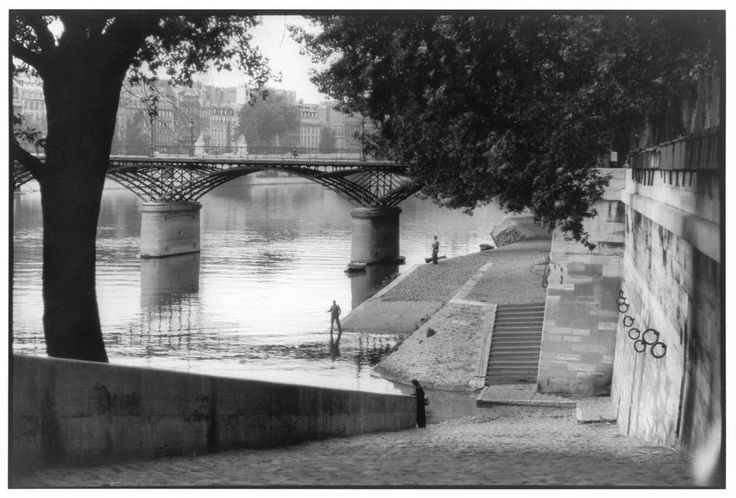 Henri Cartier-Bresson FRANCE. Paris. The Pont des Arts bridge. 1955.