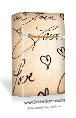 Signed with Love - another  personally designed cigarette case for the love of your life from www.smoke-screenz.com