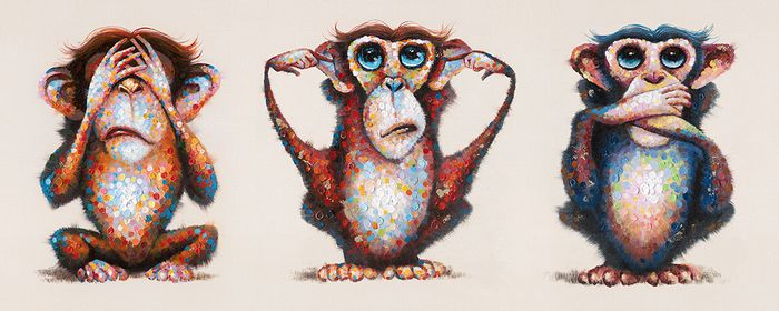 Monkey see, monkey hear, monkey speak! Get this great whimsical oil painting of three monkeys great for your child or babies room! Want to know where you can get this piece? Give us a call at Streamline Art & Frame at (905) 238-9138 to get more information or visit our website! #streamline #art #frame #monkeysee #monkeyhear #monkeyspeack #whimsical