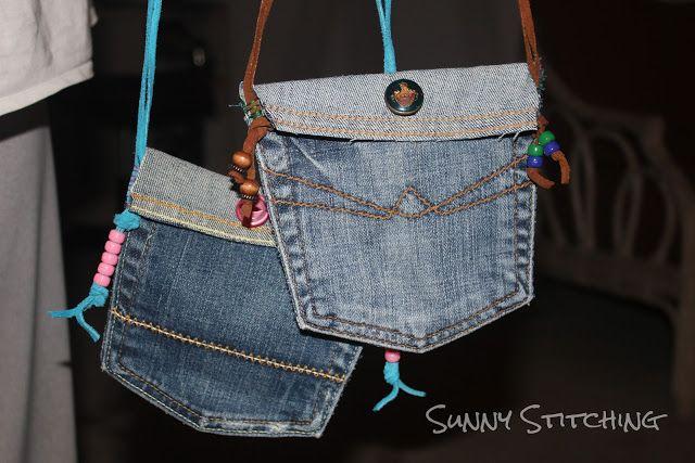 Sunny Stitching: Jean Pocket Purse Tutorial