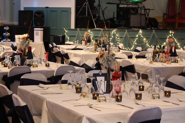 All set up for a stunning event at Bilston Town Hall