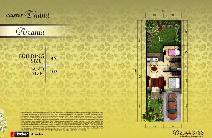 Denah - Type Arcania - Lebar 6