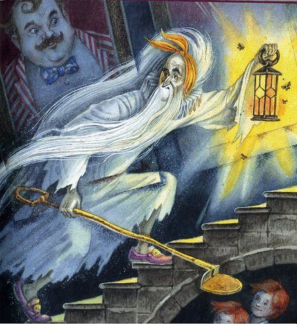 The Canterville Ghost Illustration by Maxim Mitrofanov