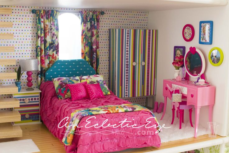 Barbie bedroom 1:6 scale furniture
