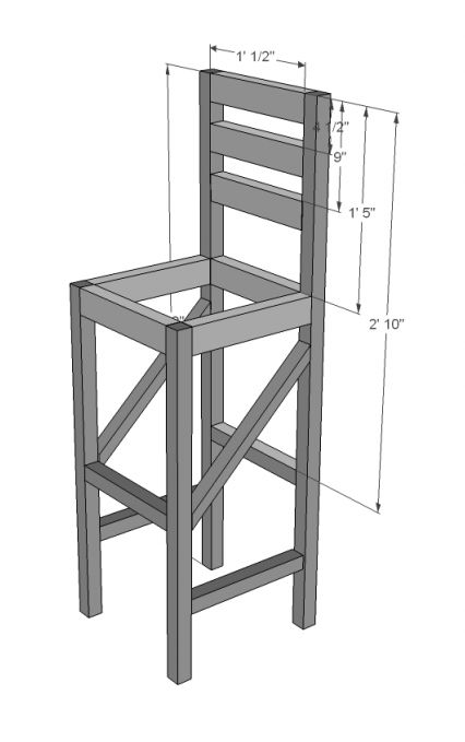 Build A Extra Tall Bar Stool Free And Easy DIY Project And Furniture Plans