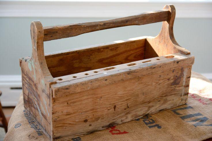 Primitive Wooden Tool Box Caddy Magazine Storage by MRCG on Etsy https://www.etsy.com/listing/178957627/primitive-wooden-tool-box-caddy-magazine