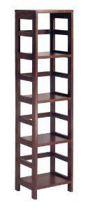 Amazon.com - Winsome Wood 4-Shelf Narrow Shelving Unit, Espresso - Bookcases