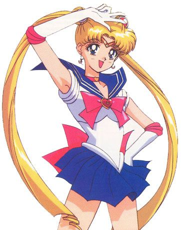 Fighting evil by moonlight, winning love by daylight. Never running from a real fight, she's the one named Sailor Moon