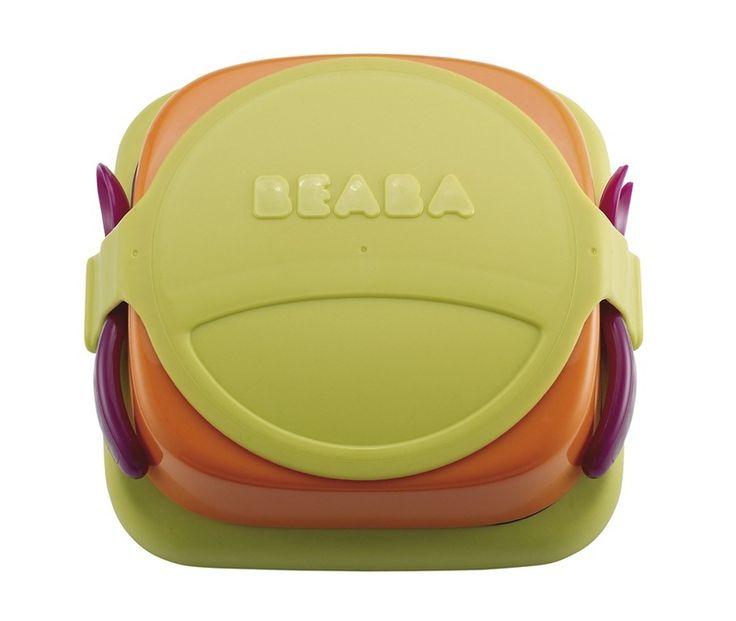 Zestaw naczyń i lunchbox w jednym Beaba - zielony